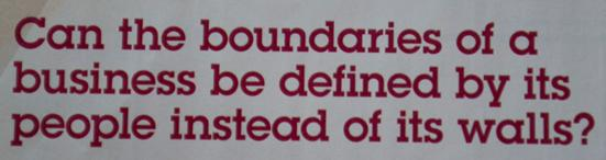 Can the boundaries of a business be defined?