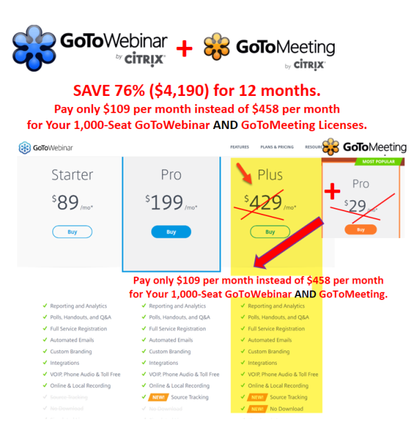 GoToWebinar AND GoToMeeting Annual Corporate @ ONLY $109 per